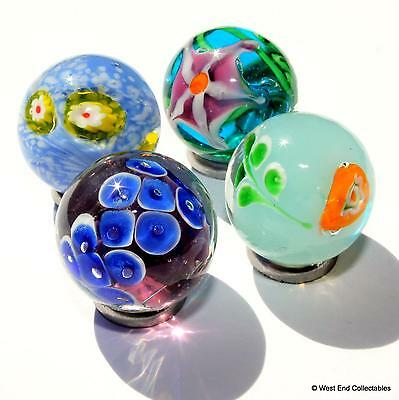22mm Sun in Blue Sky Glass Art Toy Marble /& Stand Handmade Collectors Piece
