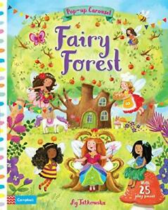 Fairy-Forest-Pop-up-Carousel-by-Books-Campbell-NEW-Book-FREE-amp-FAST-Deliver