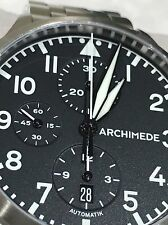 Archimede Pilot 42 Automatic CHRONOGRAPH Watch, UA7939-C1.1 Truly EXCELLENT!!!!!