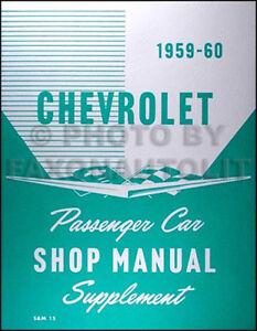 1958 1959 1960 Chevy Assembly Manual CD Impala Bel Air El Camino Biscayne