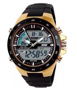 Hot Sale Analogue & Digital 5ATM Date Chronograph Men's Women Luxury SKMEI Watch