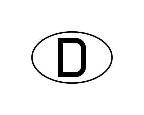Aufkleber Sticker D Auto PKW Kennzeichen Länderkennzeichen Deutschland BRD