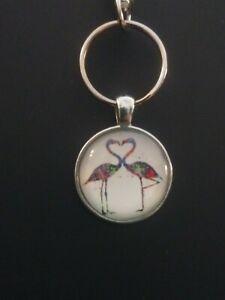 Flamingo-Heart-Keychain