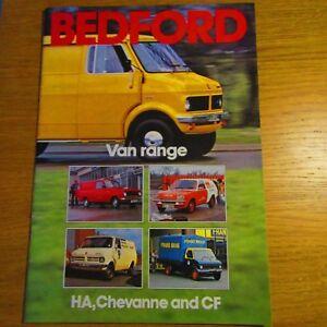 Bedford Cf Ha Chevanne Van Uk Brochure October 1978 Ebay