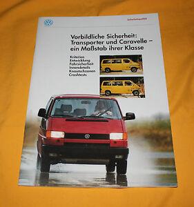 VW-Transporter-Caravelle-T4-Sicherheit-1992-Prospekt-Brochure-Catalog-Depliant