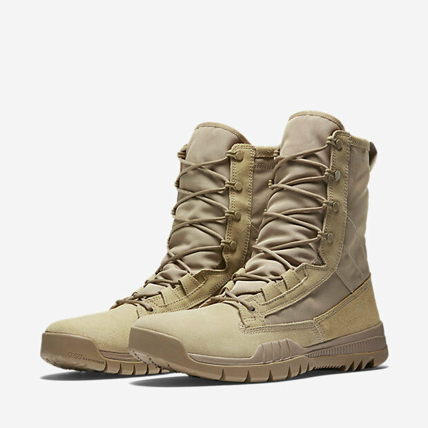 Nike SFB Field 8  Leather Tactical Boots British Khaki Men's Size 12.5 Military