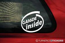 2x GA16DE inside stickers. For 1.6 Nissan Almera, Pulsar N15 / Primera p10