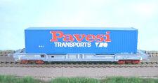 LS Models 30291 SNCF 4achs Containertragwagen KM/NOVATRA grau 40' PAVESI Ep5 NEU