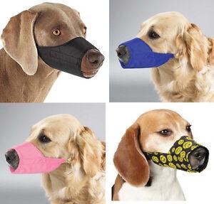 Nylon-Dog-Muzzle-USA-Seller-Fabric-Adjustable-Guardian-Gear-No-bite-bark