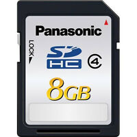 Set Of 4 Panasonic 8gb Class 4 High Speed Sd Sdhc Memory Card