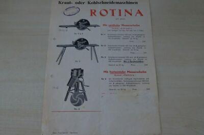 Schneidemaschine Rotina Prospekt 195? Fragrant Aroma 197784 Petzold & Weinert