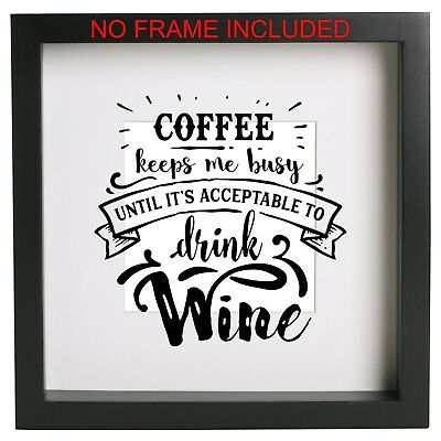FRAME NOT INCLUDED VINYL DECAL BOX FRAME WINDOW GLASS  PROSECCO  DIY GIFT
