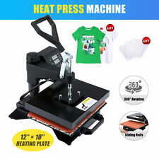 12x10 T Shirt Heat Press Machine For Shirts Phone Cases Tote Bags Amp More 900w