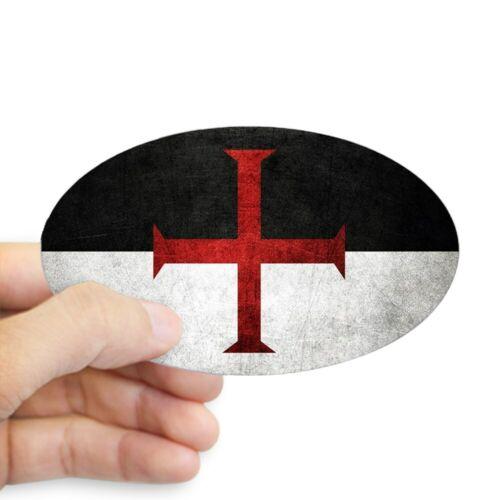 1785761432 Oval CafePress Flag Of The Knights Templar Sticker Sticker