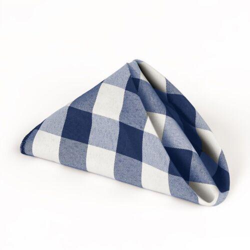 "300 Checkered Check Napkins 20/""x20/"" Polyester Gingham Buffalo Made USA 4 Colors"