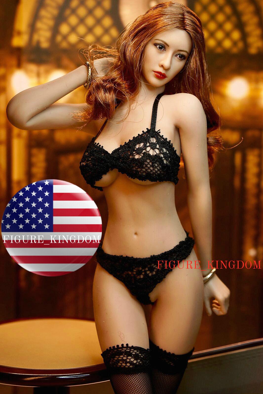 PHICEN 1/6 Super-Flexible Seamless Female Figure Braun Hair Asian Doll Set USA