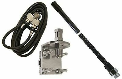 White Fiber Glass Whip CB Antenna Procomm JBC400W Bull Dog 4 Ft