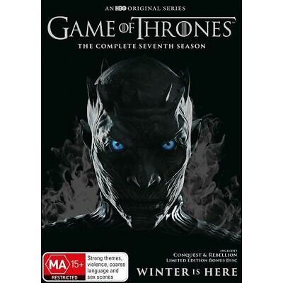 Game Of Thrones : Season 7 (DVD, 2017, 5-Disc Set), NEW SEALED AUSSIE RELEASE R4