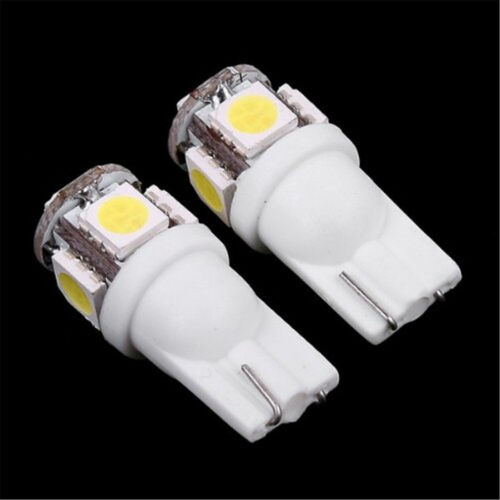 10x T10 5050 W5W 501 5 SMD LED Bulbs Car Interior Lights Side Lamp Wedge Capless