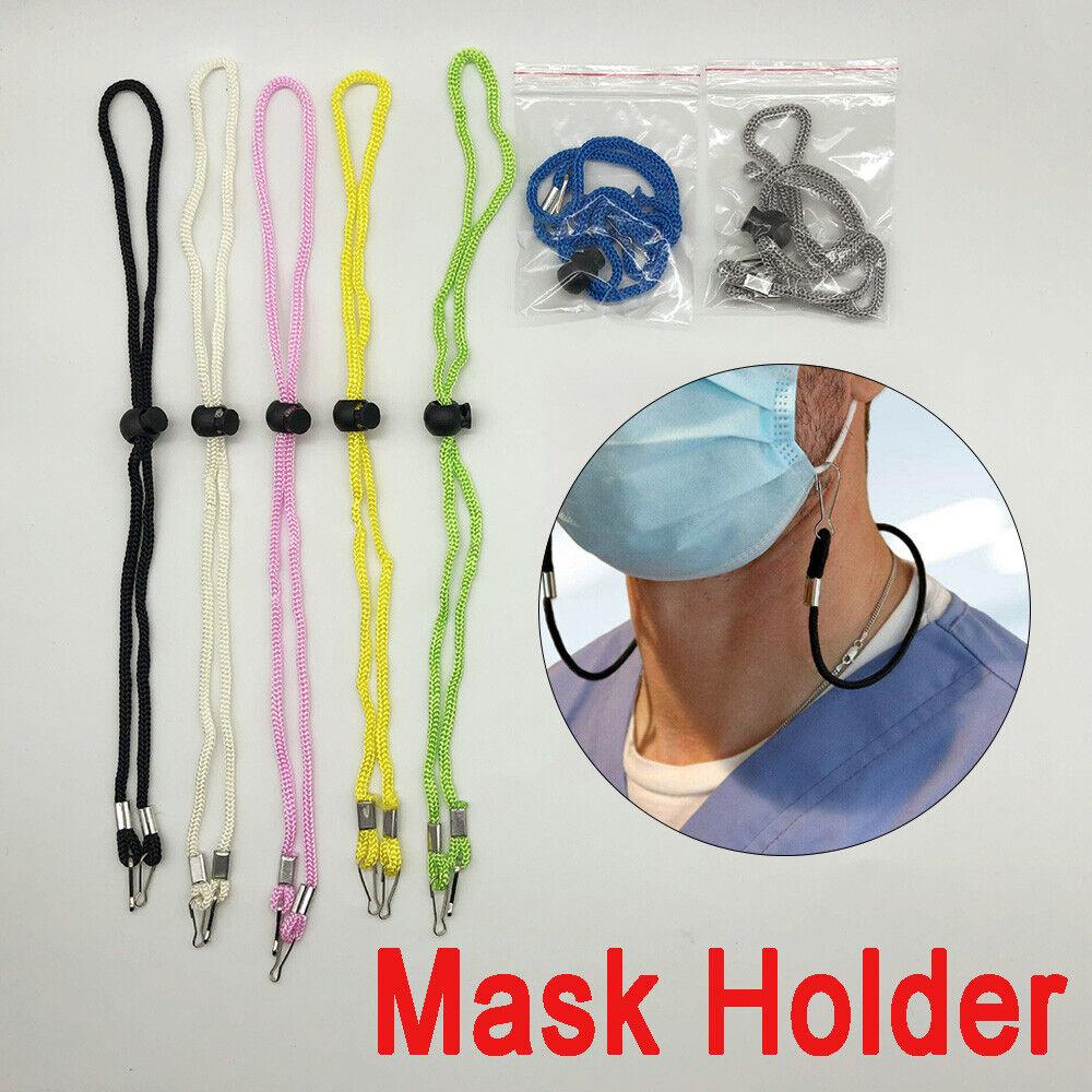 Adjustable Face Mask Lanyard Handy&Convenient Mask Rest&Ear Holder Rope