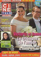 CINE REVUE (belge) 2010 N°25 michael jackson dounia coesens victoria de suede