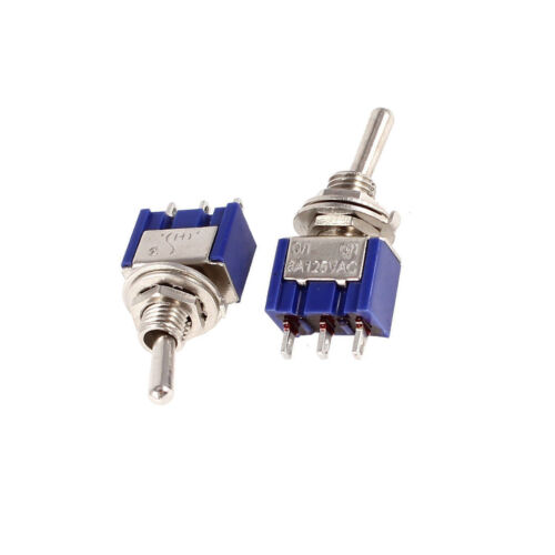 10PCS Mini 6A 125V AC SPDT MTS-102 3Pin 2 Position On-on Toggle Switch Practic