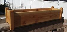 "Cedar Flower Deck Rail Floor Planter 30"" Garden Box Window Box"
