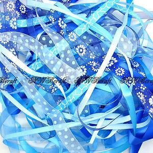 10-x-1-Metre-Bundle-of-Mixed-Ribbon-Off-Cuts-Xmas-Gift-Wrapping-Arts-and-Crafts