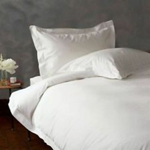 DUVET COVER SET KING SIZE WHITE SOLID 800 THREAD COUNT 100/% EGYPTIAN COTTON