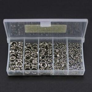 250pcs-5-Size-Stainless-Steel-Fishing-Split-Rings-Double-Loop-Connectors-Tackle