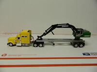 1/64 Custom Log Loader Mounted On Trailer & International Truck ( T T )
