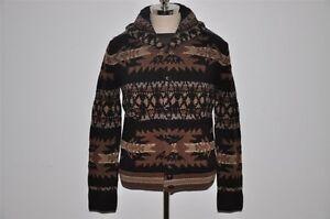 2b97b957c Ralph Lauren RRL Hand Knit Indian Shawl Wool Cardigan Sweater