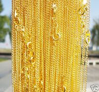 Lots of 10pcs Gold Plated chain With Clasp Chain Finding 43cm,2mm