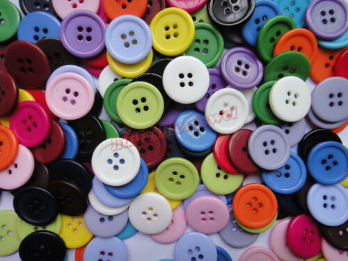 """Assorted 170pcs Mixed 17color Resin clothes Sewing scrapbook buttons 20mm 0.79/"""""""
