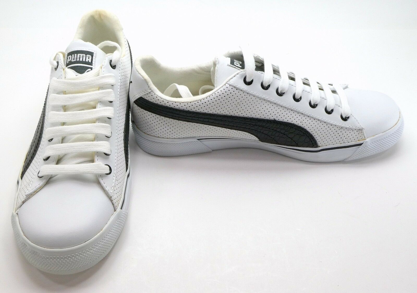Puma Shoes Benny PL Reptile White/Black Sneakers Comfortable