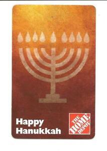 2006 Home Depot Happy Hanukkah Menorah Gift Card No ... Happy Gift Card Home Depot