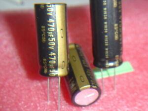 2-pcs-KZ-470uF-50V-Nichicon-MUSE-KZ-Capacitor-85-C-RM7-5mm-NEU-Kondensator