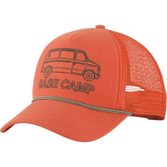 North Face Cross Stitch Snapback Trucker Hat Foam mesh Papaya Orange Last 1 347e0454ed9