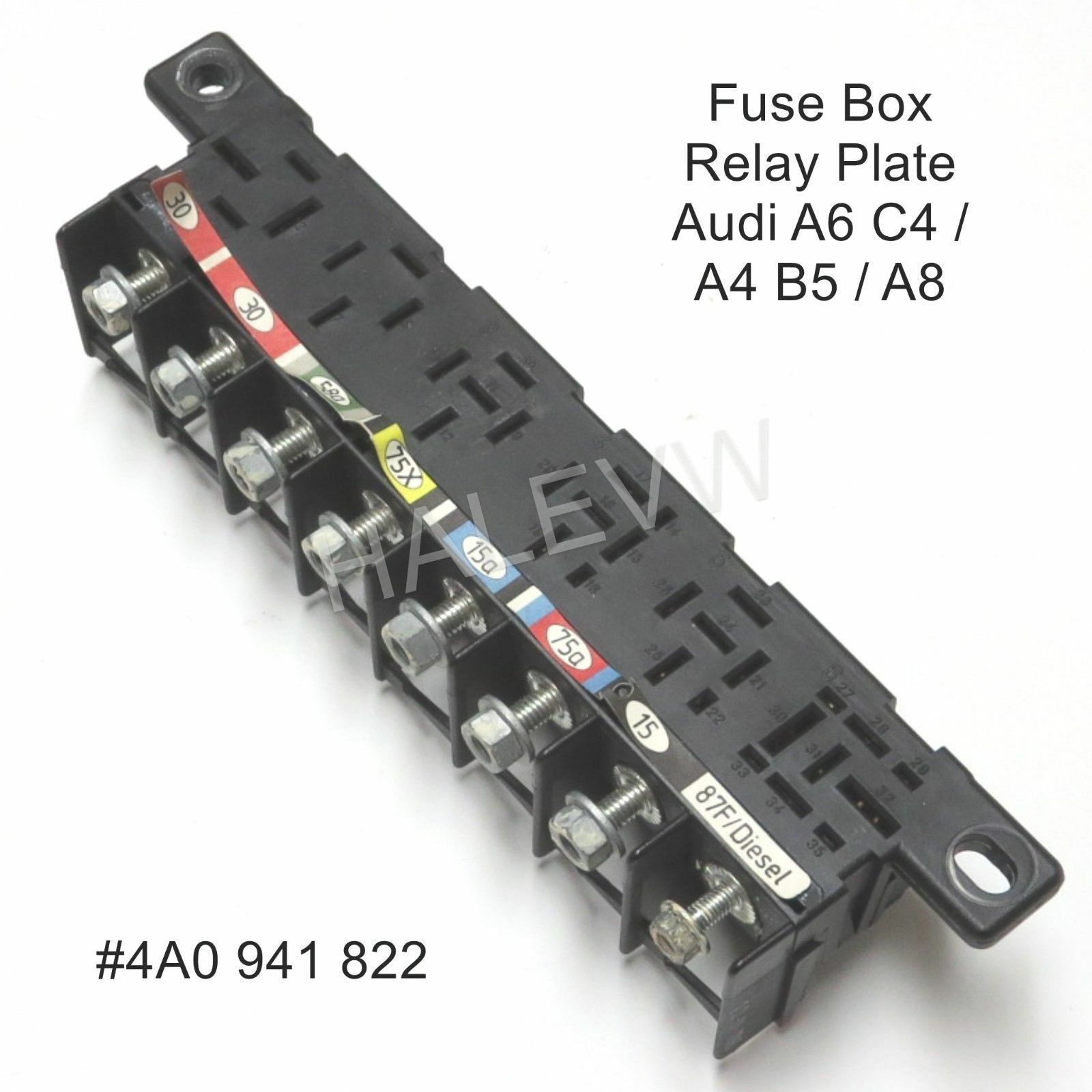 Genuine Oem 1997 Audi A6 Quattro Relay Holder Plate 4a0941822 Ebay 99 Hyundai Accent Fuse Box Norton Secured Powered By Verisign