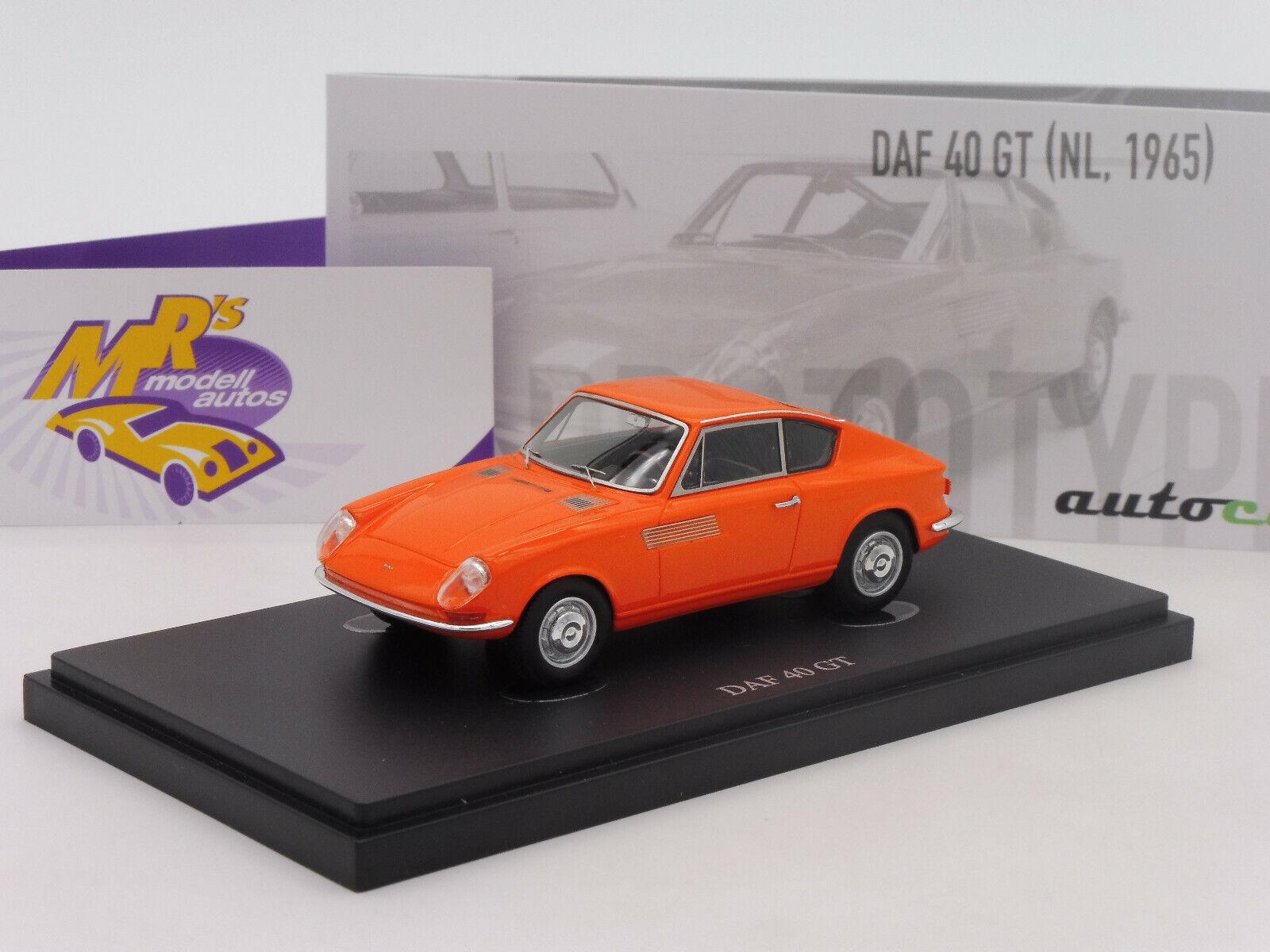 Autocult 06033   DAF 40 GT coupé  année modèle 1965 prougeotype dans  Orange  1 43 NEUF  juste pour toi