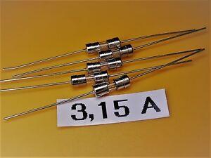 20 Stück Pico Sicherung 250V 7A Schnell 3x62mm für Telekommunikation