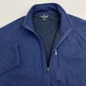 NWOT-Tailor-Vintage-Full-Zip-Jacket-Mens-Medium-Blue-Long-Sleeve-Casual