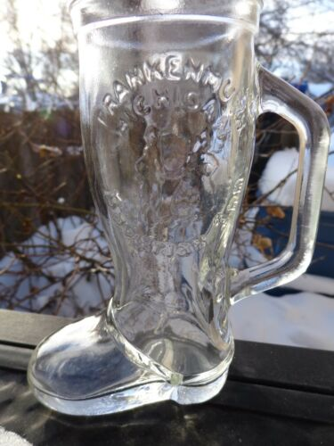 Boot Shaped Liquor Drink Glass Frankenmuth, MICHIGAN Breweriana Bavarian Inn
