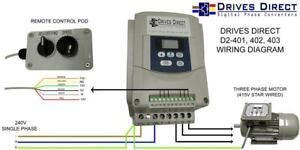 3HP DIGITAL 240V to 415V 3 PHASE INVERTER CONVERTER for LATHE MILL DRILL SAW etc