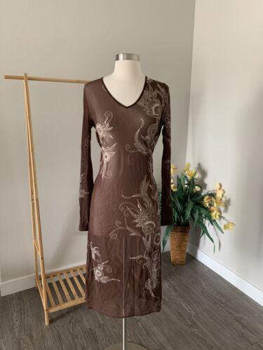 Vivienne Tam Dress - Vivienne Tam Brown Print Shee