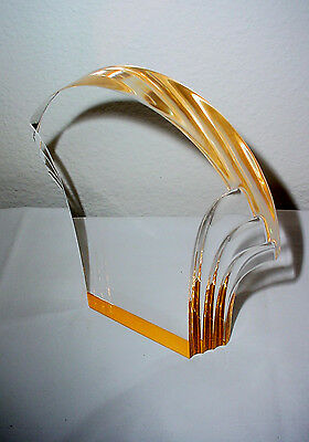 """Gold Shell Reflection Acrylic Award Plate Plaque 5 7//8 /"""" x  6.25 /"""""""