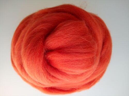Carnot Orange* Merino Wool Roving Giant Yarn Big Arm Knitting Felting 100g 1kg