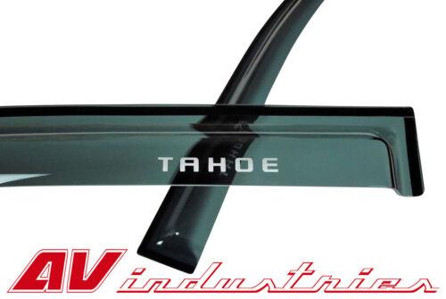 For 2015-2018 Tahoe Side Window Visors Vent Shade Rain Deflector Guard with Logo