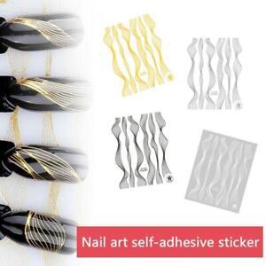 Fashion-Nail-Art-Sticker-Gold-Metal-Stripe-Line-Tape-Self-Adhesive-Transfe