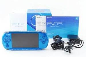 Sony-PSP-3000-Vibrant-Blue-Console-w-Box-and-Charger-Japan-Excellent